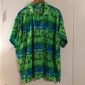 Vintage Rima Hawaiian Shirt Caribbean Native Motif